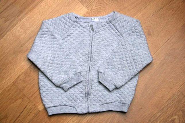 Kurteczka bluza bomberka bawełniana pikowana szara r. 92