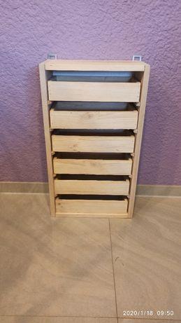 Szafka narzędziowa drewniana 6 szuflad