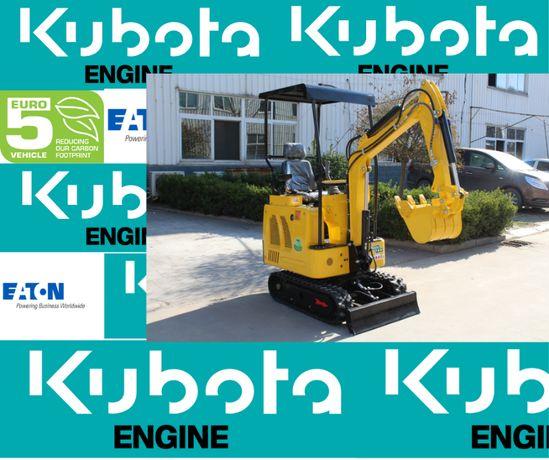 Kubota Engine - Poznań Nowa Minikoparka 1 Ton. Mini Koparka + osprzęt