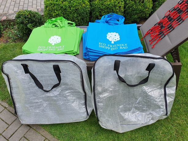 Komplet, Torby Ekologiczne, torby Ikea, wieszaki plastikowe