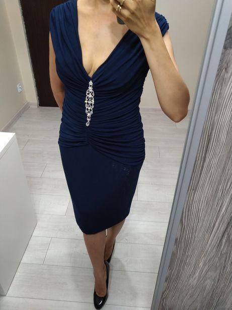 Granatowa sukienka Yulla