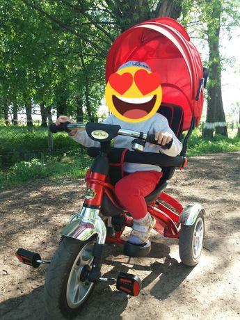 Велосипед дитячий 3х кол.+коляска 2 в 1