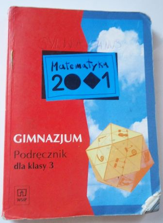 Matematyka 2001 3 gimnazjum podręcznik
