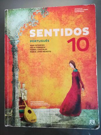 Sentidos 10, Português 10º ano, Manual e CA