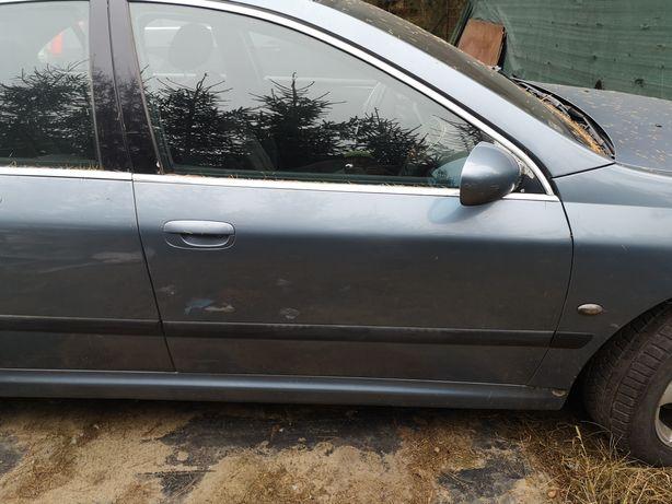 Peugeot 607 prawe przednie drzwi kompletne