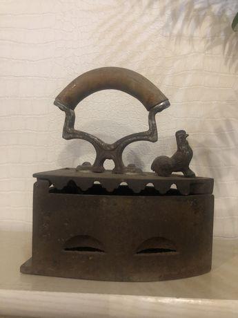 Утюг на углях утюг петушок винтаж