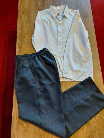 Spodnie wizytowe+ koszula biała