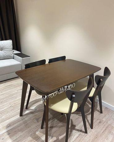 Кухонный стол Орех 120см новый! Со склада Модерн Дерево с МДФ