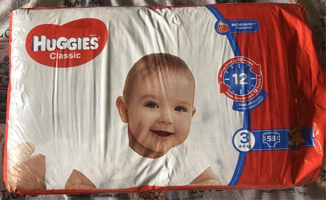 Подгузники Huggies classic 3