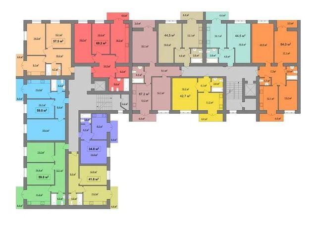 22 470 $ 1кім квартира біля Нафти і Газу - 45м2