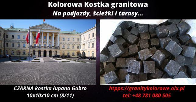 Kostka granitowa CZARNA łupana 8/11 Promocja!!
