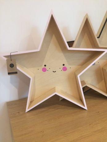 półka drewniana gwiazda