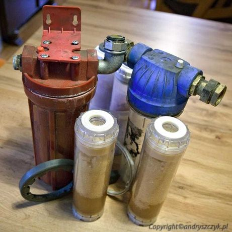 filtry rurowe - żywiczny i sznurkowy - zestaw do uzdatniania wody