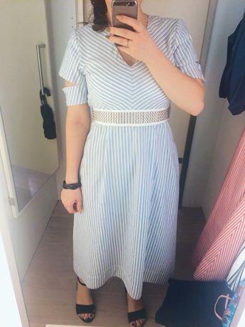 Стильное платье в полоску от Am I Lab, xs-s
