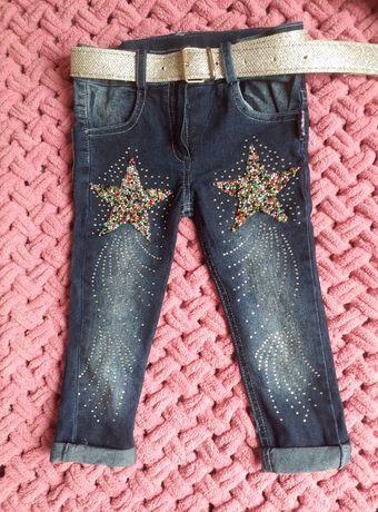 Стильные джинсы для девочки 2-3 года