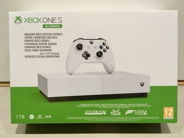 Xbox One S 1TB +Minecraft +ForzaHorizon3 +SeaOfThieves