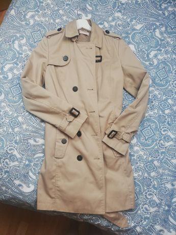 Klasyczny płaszcz trencz damski jak nowy M