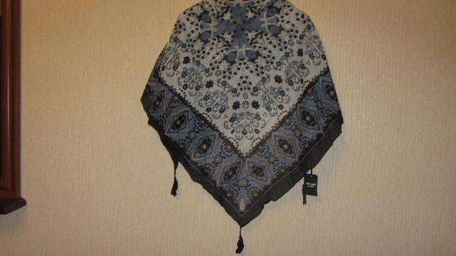 платок шейный c кисточками \ шарф ada gatti
