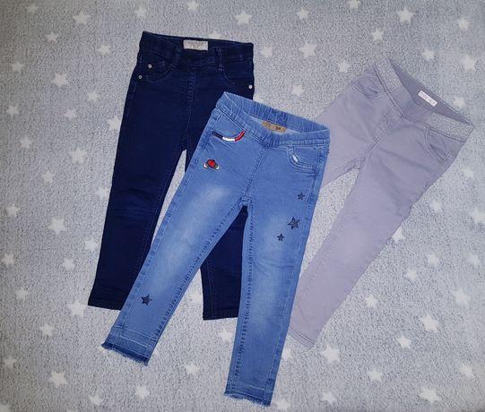 3x spodnie rurki treginnsy 98 next cool club