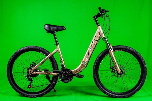 Женский складной велосипед с корзинкой в 4 цветах рама 15 колёса 26