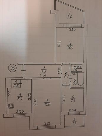 Подам 3 комнатную квартиру космонавтов 24