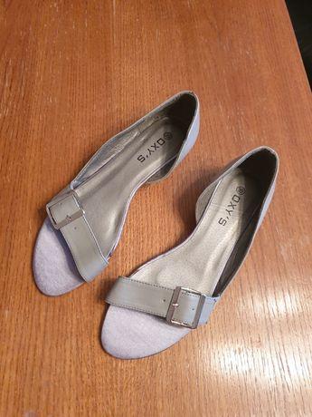 Nowe szare baleriny sandałki sandały kolor szary rozmiar 39