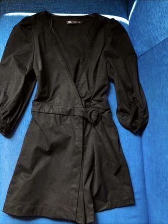 Sukienka kombinezon zara czarny czarna