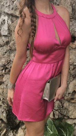 Zara Pink Halter Dress