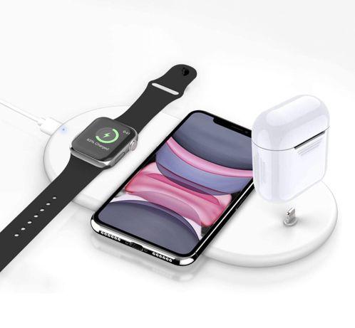 Carregador wireless apple 3 em 1