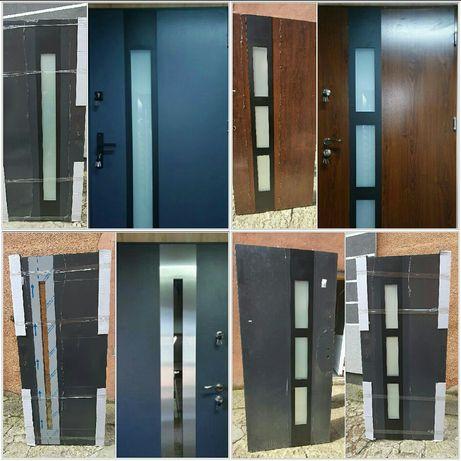 Nowe drzwi zewnętrzne stalowe antracyt orzech złoty dąb winchester