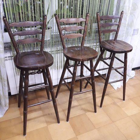 krzesła stołek barowy drewniane