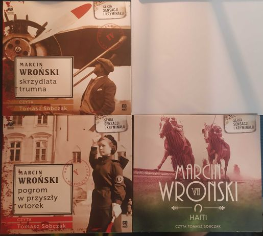 Audiobooki Marcin Wroński 3 CD, części IV, V, VI