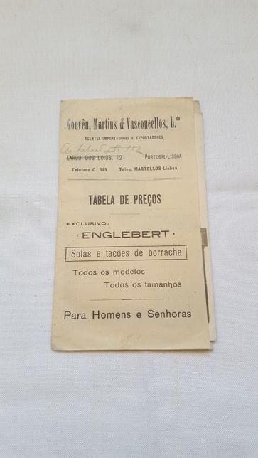 Rara brochura + postal publicidade aos Calçados Englebert