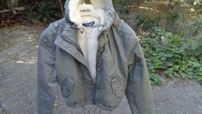 Куртка теплая детская меховушка Original marines р.8 (130см)