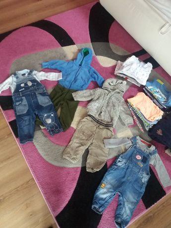 komplet ubrań paka zestaw ubrań 74 spodnie bluzki 51015 takko hm