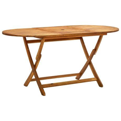 vidaXL Mesa de jardim dobrável 160x85x75 cm madeira de acácia maciça 313324