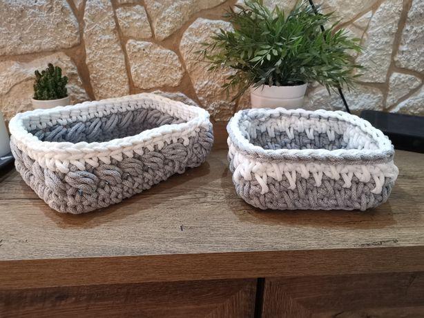 Koszyczek ze sznurka bawełnianego Rękodzieło Handmade