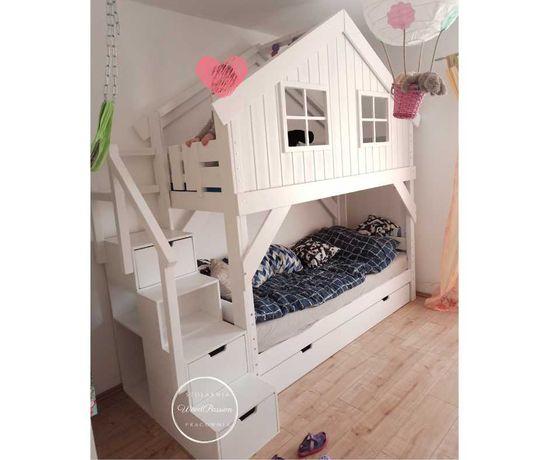 Łóżko domek piętrowe dla dziecka nowe