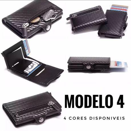 """Carteira com Porta Cartões RFID - Modelo 4 - Estilo """"Secrid"""""""