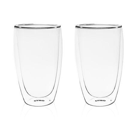 Стеклянные стаканы с двойным дном UTRO Flechazo 450 | Гарантия