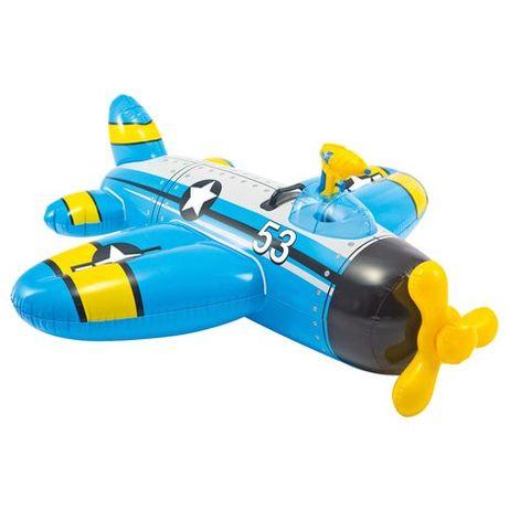 Insuflavel novo avião 132x130cm com pistola de agua