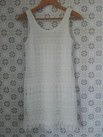 piękna koronkowa biała letnia sukienka H&M, rozmiar 36