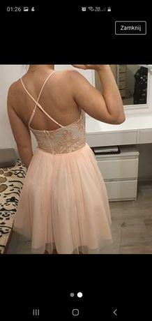 Sukienka wesele poprawiny studniówka połowinki rozkloszowana tiul lou
