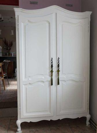 biała mała szafa ludwikowska ludwik drewniana antyki shabby stara