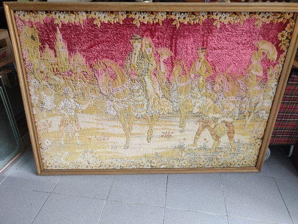 Tapeçaria antiga emoldurada