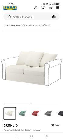 Capa p/módulo, Gronlid 2 Lug, IKEA. Novo