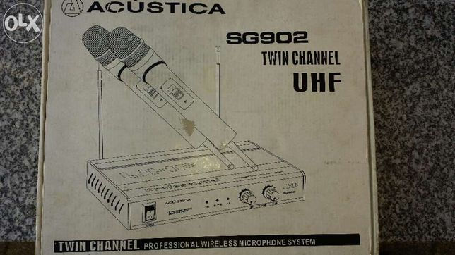 microfones sem fio banda UHF