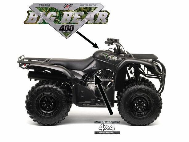 Naklejki quad YAMAHA Big Bear ! Do wyboru modele 350 400