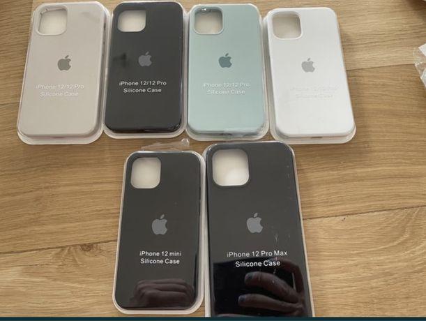 Etui do apple iphone 12 pro 12 pro max 12 mini beż białe mięta czarny