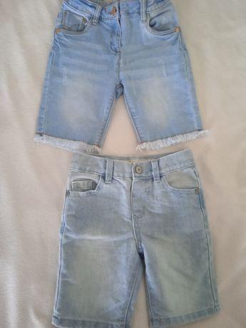 Фірмові джинсові шорти на 2-4 роки